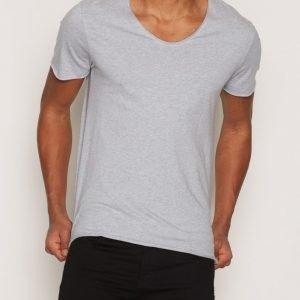 Selected Homme Shdmerce Melange Ss O-Neck Tee Noos T-paita Sininen