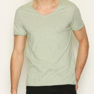 Selected Homme Shdmerce Melange Ss O-Neck Tee T-paita Vihreä