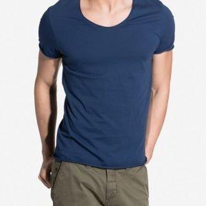Selected Homme Shdmerce Ss O-Neck Noos T-paita Tummansininen