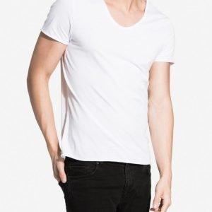 Selected Homme Shdmerce Ss O-Neck Noos T-paita Valkoinen
