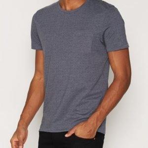 Selected Homme Shdnewton Ss O-Neck Tee T-paita Sininen