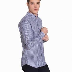 Selected Homme Shdone Oak Shirt Ls Noos T-paita Tummansininen