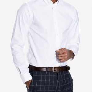 Selected Homme Shdone Oak Shirt Ls Noos T-paita Valkoinen