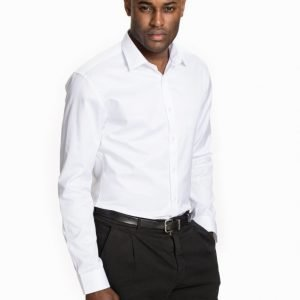 Selected Homme Shdone-Pelle Caracas Shirt Ls Noos Kauluspaita Valkoinen