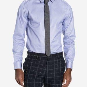Selected Homme Shdone-Pellesantiago Shirt Ls Noos Kauluspaita Tummansininen