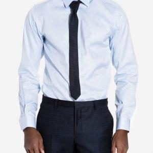 Selected Homme Shdone-Pellesantiago Shirt Ls Noos Kauluspaita Vaaleansininen