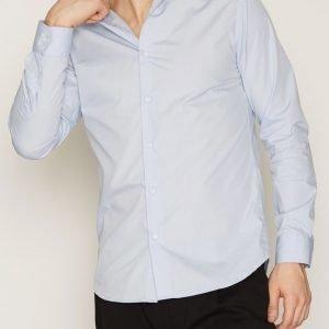 Selected Homme Shdonefree Shirt Ls Kauluspaita Vaaleansininen