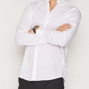 Selected Homme Shdonelenn Shirt Ls Kauluspaita Valkoinen