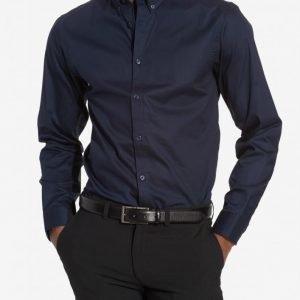 Selected Homme Shdonemark Shirt Ls Noos T-paita Tummansininen