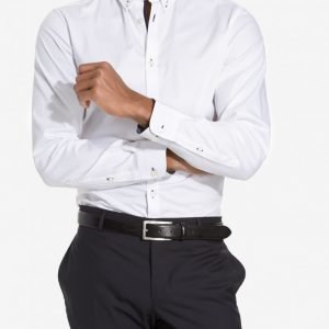 Selected Homme Shdonemark Shirt Ls Noos T-paita Valkoinen