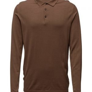 Selected Homme Shdparker Knitted Polo pitkähihainen pikeepaita