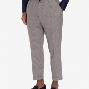 Selected Homme Shxfive-Oslo Crop Trousers Puvunhousut Beige