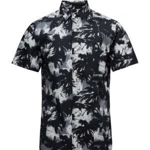 Selected Homme Shxone-Black Palm Ss Shirt lyhythihainen paita