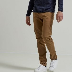 Selected Oneluca Camel Skinny Fit Chinoshousut