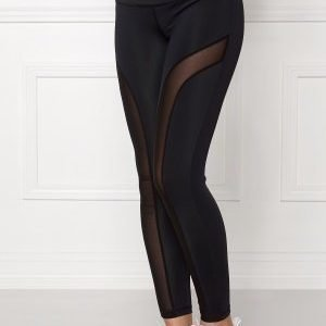 Shape Me Up Black Mesh Tights Black