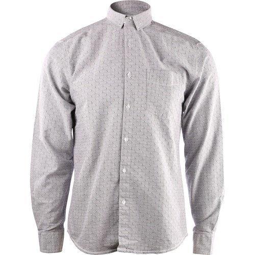 Shine Jacquard oxford shirt Black