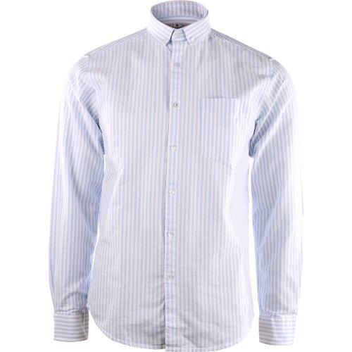 Shine Striped oxford shirt Blue