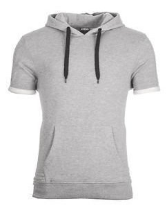 Side Zipped Hoody S/L Grey