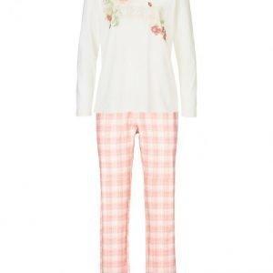 Simone Pyjama Ecru / Aprikoosi / Vihreä