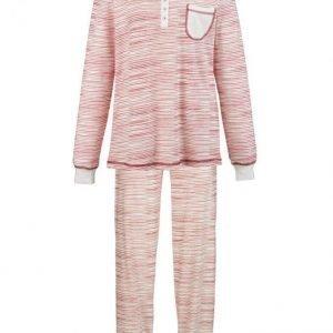 Simone Pyjama Ecru / Viininpunainen / Laivastonsininen