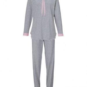 Simone Pyjama Harmaa Meleerattu / Roosa
