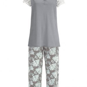 Simone Pyjama Harmaa / Minttu / Ecru