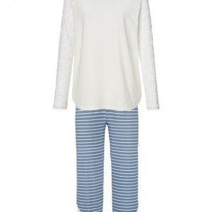 Simone Pyjama Jäänsininen / Ecru