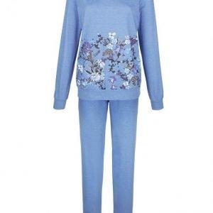 Simone Pyjama Meleerattu Asuurinsininen