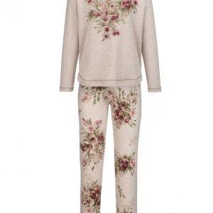 Simone Pyjama Meleerattu Beige / Vihreä