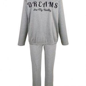 Simone Pyjama Meleerattu Harmaa