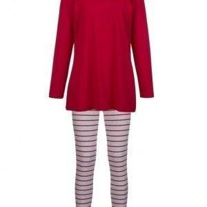 Simone Pyjama Punainen / Meleerattu Harmaa