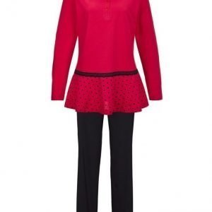 Simone Pyjama Punainen / Musta