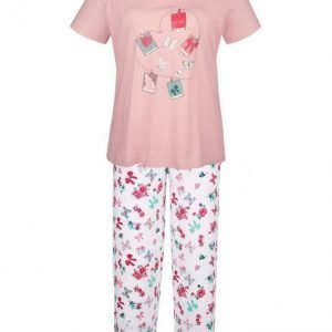Simone Pyjama Roosa / Ecru