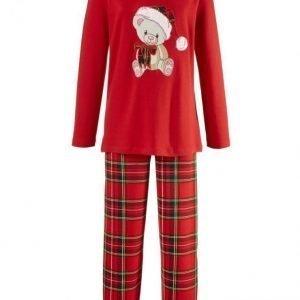 Simone Pyjama Rot / Grün