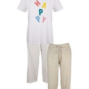 Simone Pyjama Valkoinen / Monivärinen