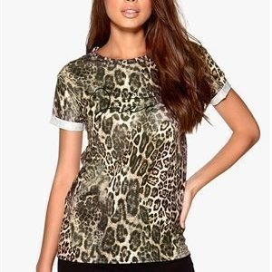 Sisters Point Cut-17 t-shirt Brown Animal/Black