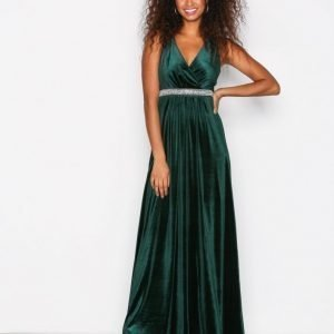 Sisters Point Gell Dress Maksimekko Deep Green