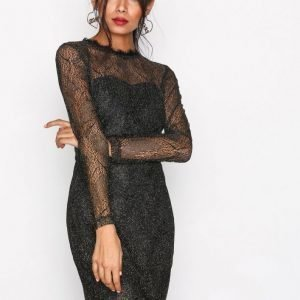 Sisters Point Gentle Dress Kotelomekko Black / Gold