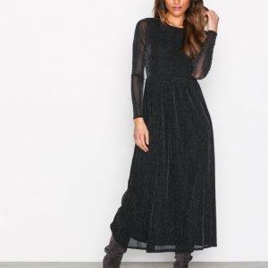 Sisters Point Gia Dress Maksimekko Musta / Hopea