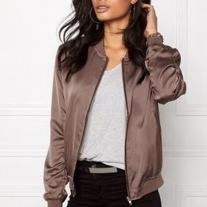 Sisters Point Goldie Bomber Jacket Grey/brown