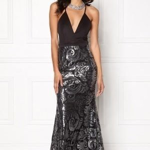 Sisters Point Nalow Dress Black/Silver
