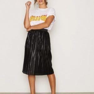 Sisters Point Nice Skirt Midihame Black