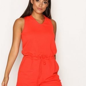 Sisters Point Seni Jumpsuit Playsuit Red