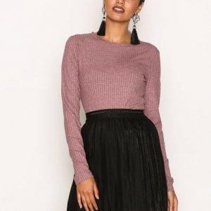Sisters Point Vaks Skirt Midihame Black