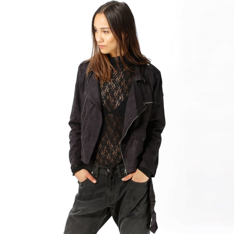 Sixth June Faux Suede Perfecto -takki