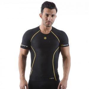 Skins A200 Mens Top Short Sleeve Kompressiopaita Musta