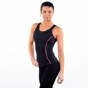 Skins A200 Womens Racer Back Top Treenitoppi Musta / Roosa