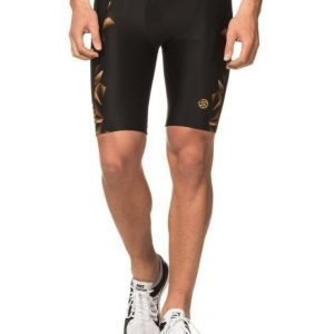Skins A400 Mens Gold 1/2 Tights Black/Gold