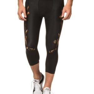 Skins A400 Mens Gold 3/4 Tights Black/Gold