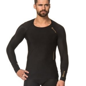 Skins A400 Mens Gold Top Long Sleeve Black/Gold